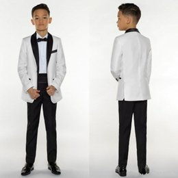Erkek Smokin Erkek Yemeği Takım Elbise Erkek Resmi Takım Elbise Smokin Çocuklar için Smokin Resmi Amaçlar Beyaz Ve Siyah Küçük Erkekler Için Suits Üç Adet nereden eski takım elbise tedarikçiler