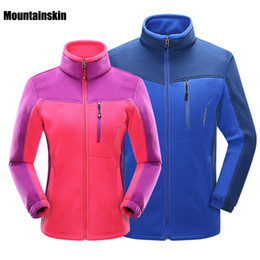 Wholesale Woman Orange Ski Jacket - 2017 Men Women Winter Softshell Fleece Jackets Outdoor Sport Thermal Brand Coats Hiking Skiing Trekking Male Female Jacket Va060