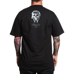 Männer tattoo t-shirts online-Sullen Männer Solo-Schädel-T-Shirt schwarz Tattoo Julian Farrar T-Shirt Bekleidung Bekleidung