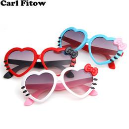 f6adc05cb41 Fashion Summer Cartoon Cute Heart Bow Cat Sunglasses Glasses Eyeglasses  Eyeware For Kids Girls Boys Child