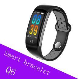 2019 kamera q6 Q6 Smart Armband Herzfrequenz blutsauerstoffsättigung fitness armband Nachricht Anruf Erinnerung IP68 Wasserdichte Fernbedienung Kamera günstig kamera q6