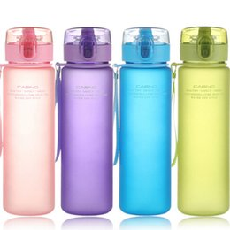 Wholesale home drinking water - BPA Leakproof Sports Water Bottle Tour Hiking Portable My Favorite Drink Bottles 400ml 560ml Outdoor And Home DDA605