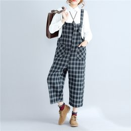 Wholesale Trousers Suspenders Women - OSOL Women Loose Suspender Trousers Solid Color Casual High Waist Overalls Autumn Summer Jumpsuits Female Long Pants 2018