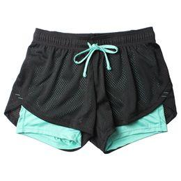 Shorts deportivos transpirables online-Pantalones cortos de yoga Unisex Summer Mesh transpirable Ladie Girl Pantalones cortos para correr Athletic Sport Fitness Clothes Jogging Yoga Pants