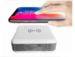 Wholesale Wireless Wall Charger - Power Bank 6700mAh QI Wireless Charger Wall Charger US EU UK AU Plug 5V 3A 15W Portable Super Adapter for iPhone X Samsung S9 Plus I7S TWS