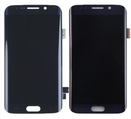 s6 bordo lcd assembly Sconti Nero / Blu Per Samsung Galaxy S6 Bordo SM-G925F G925 G925F G920V Display LCD Digitizer Touch Screen Parti di montaggio