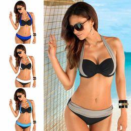 73d9820a0a677a bandage triangle bikini Promo Codes - 2018 New Triangle Bikini Sets Sexy Ladies  Swimwear Halter Bandage
