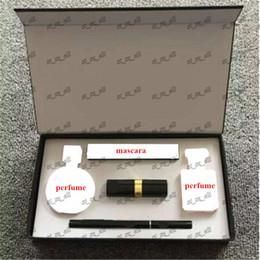 Caja de maquillaje de lápiz labial online-Conjunto de maquillaje CALIENTE Kollection lápiz labial delineador de ojos rímel perfume Caja de regalo DHL envío