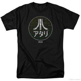Canada Atari Japanese Grid Classique Jeu Vidéo T-shirt Homme Noir T-shirt O-Cou Mode Casual Haute Qualité Imprimer Top Tee cheap japanese video games Offre