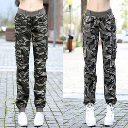 Wholesale Camouflage Trousers For Women - 2017 New Arrival Spring Autumn Female Camouflage Trousers Pants Casual Pants For Women Girl Free shipping