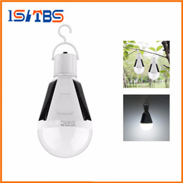 Wholesale Wholesale Solar Emergency Light - E27 7W 12W Solar Lamp 85-265V Energy Saving Light LED Intelligent Lamp Rechargeable Solar Emergency Bulb Daylight