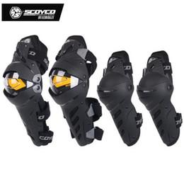 scoyco gänge Rabatt CE-Kennzeichnung Marke Scoyco K17H17 Kniepolster und Ellenbogenschutz Getriebe Motorrad Protector Sports Guards Sicherheit Gears