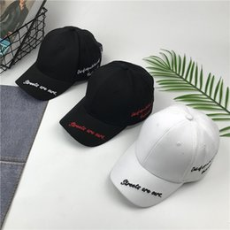 Wholesale hip funding - Korean Star With Fund Baseball Hat Street English Letter Embroidery Duck Tongue Sun Hat Spring And Summer Hip-hop Tide