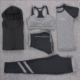 e51aaceb39ef6 New Yoga Suits Women Gym Clothes Fitness Running Tracksuit Sports Bra+Sport  Leggings+Yoga Shorts+Top 5 Piece Set Plus Size M-3XL xxxl plus size yoga  pants ...