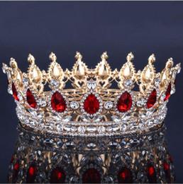 Wholesale Vintage Jewelry Accessories - Vintage Queen King Tiara Crown jewelry headdress for women bride diadem hair accessories
