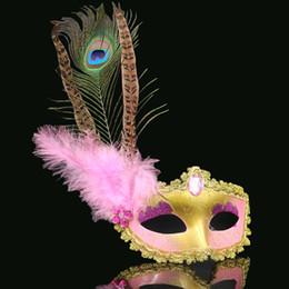 2019 карнавальные перья оптом Маскарад партии Хэллоуин женщина маски перья глаз Маски Хэллоуин Рождество карнавал Оптовая 12 шт. скидка карнавальные перья оптом