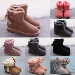 30f4e55708aab3 Heißer Verkauf Australian Frauen Schnee Boost Ug Frauen Schnee Stiefel 100%  Echtem Rindsleder Stiefeletten Warme Winterstiefel Frau schuh