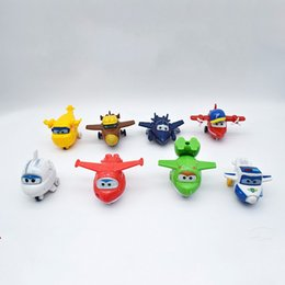 Wholesale baked goods - Plastic Super Wings Action Figure Deformable Toy 8 Piece Set Mini Cartoon Kids Toys For Bake Ornament Gift 14 5sy UU