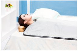 Wholesale Infrared Lymph Drainage - Far Infrared Blanket Slimming Sauna Blanket Weight Loss Body Detox Home Body Lymph Drainage FIR 2 Zones
