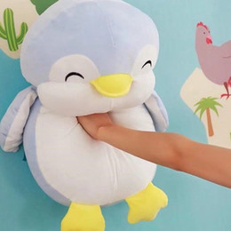 Wholesale Big Plush Penguin - Dorimytrader Soft Fat Smiling Animal Penguin Plush Toy Big Stuffed Cartoon Penguins Anime Pillow Doll for Baby Gift 24inch 60cm DY61987