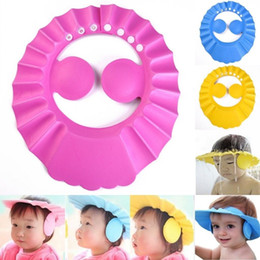 Wholesale Shower Caps For Babies - Baby Shower Cap with Ear Comfortable Adjustable Soft Waterproof Shampoo Shower Bathing Hat for Baby Kids Toddler Children