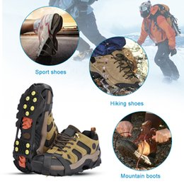 Wholesale Wholesale Spikes For Shoes - Studs Ice Gripper Spike for Shoes Outdoor Anti Slip Climbing Snow Spikes Crampons Cleats Chain Claws Grips Boots CoverMD-036