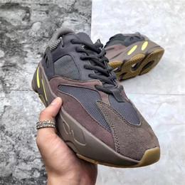 e6bc8587af19b 2018 Authentic Kanye West Brown 700 Mauve EE9614 WAVE RUNNER Man Running  Shoes With Original Box Real Basf Bottom Desert Rat Brand Design. Supplier   mics
