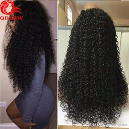 Wholesale Brazilian Vigin Hair - Long Curly Wig Vigin Human Hair Lace Front Wig Curly Glueless Full Lace Curly Wigs For Black Women Baby Hair