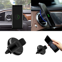 Wholesale Free Mix Pad - Qi Wireless Car Charger 360 Degree Rotation Car Holder Qi Wireless Charger Pad DHL free shipping OTH784