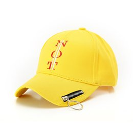 Summer Hat For Women Letter Embroidery Baseball Cap Street Trend Sun Hat  Personality Zipper Sun Europe And America Fashion. Supplier  duoyun 1f499945374b