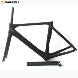 Wholesale Chinese Roads - Carbon Road Bike Frame 2017 T1000 Black Road Bike Bicycle Frame 50 53 56cm Chinese cheap Carbon Frame Road Bikes