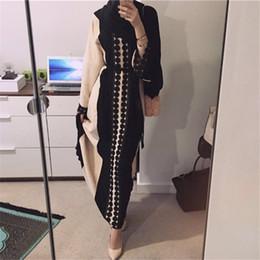 Moyen-Orient Nouveau Taille Plus Abaya Robe musulmane Dubaï Kaftan 2018 islamique turc O-cou tricot doux Vintage abayas Robes Vêtements vestidos ? partir de fabricateur