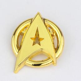 2019 star trek pins 2 Farbe Gold und Silber Star Trek Legierung Starfleet Communicator Cosplay Abzeichen Brosche rabatt star trek pins