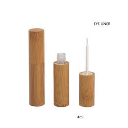 amostra de água livre Desconto 4 ML 20/50/100 pcs Vazio Natural De Bambu De Madeira Delineador Tubo, Beleza Cílios Crescimento Líquido Recarregáveis Recipiente, DIY Delineador Tubo
