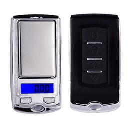 Scala digitale per grammi online-Car Key design 200g x 0.01g Mini elettronico digitale scala gioielli bilancia Pocket Gram Display LCD 20% di sconto