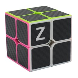 Wholesale Carbon Fiber Cube - ZCUBE 2*2*2 2x2x2 Carbon Fiber Sticker Speed Smooth Magic Cubes Children Puzzle Educational Toys As Gifts For Kids