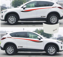 Automobili grafiche del corpo online-1 set SUV Car Truck auto sportiva potenza vita Grafica laterale decalcomania Body Hood adesivi per CX-5