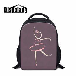 Dispalang Unique Design Ballerina Dancing Ballet Small School Bags For Girls  12 Inch Children Backpack Toe Shoe Print Bookbag e83b33a170a92