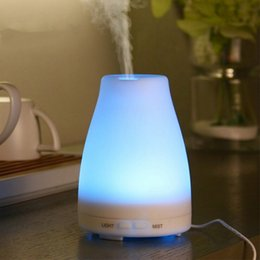 Wholesale Changing Night Light - Essential Oil Diffuser 100ml Cool Mist Portable Ultrasonic Aroma Humidifier with 7 Color Changing LED Night Light Water-less Auto Shut-off