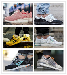 Wholesale Gel Lyte - 2017 hot sale casual shoes men and women SHOES GEL Lyte V 5 iii 3 Lover gift Black Green Tan Saga High-quality 36-44