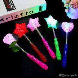 4 Pcs Led Magic Star Wand Flashing Lights Up Glow Sticks Party Xmas Halloween Supplies Dropshipping Novelty Lighting