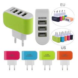 Canada LED 3 USB mur prise US 2.1A adaptateur secteur chargeur mural prise 3 ports pour Samsung Galaxy Note LG téléphone tablette Offre