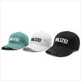 Wholesale Frankreich Marke Mode Unisex Grün Schwarz Weiß Baseballmütze Männer Frauen Hysteresen Vetements Hüte Casquette