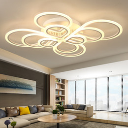 Camas modernas online-Moderno acrílico LED iluminación de araña de techo Plexiglás araña de nudo chino para el salón comedor lustre habitación avize EMS