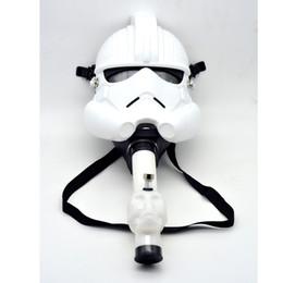 Maschere di fumo online-XXXL Maschera In Silicone Gas Bong Art Silicone Acqua Cranio Acrilico Pipa Da Pipa Narghilè Shisha Tabacco Cigarete Tubi Strumenti vendita al dettaglio
