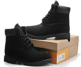 Zapatos casuales a prueba de agua online-Hombres Mujeres Invierno Impermeable Bota al aire libre Parejas Cuero Corte alto Botas de nieve cálidas Casual Martin Botas Senderismo Zapatillas de deporte Zapatillas Zapatillas