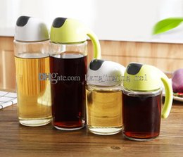 Wholesale boat kitchen - 300ml 500ml Oil Olive Dispenser Bottle Pot Leakproof Cooking Oil Storage Container Kitchen Healthy Gravy Boat tool GGA423 60PCS