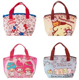 b033c8b4e385 Cartoon Hello Kitty My Melody Kids Insulated Lunch Bag for Boys Girls Women  Tote Thermal Lunch Box Bag Cooler Picnic Bags