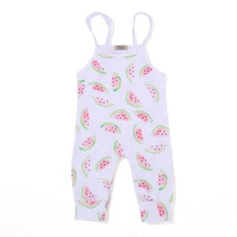 032889e70d Mikrdoo 2017 Unisex Baby Romper Clothing Newborn Girl s Cotton Sleeveless  Jumpsuit Cute Watermelon Print Strapped Clothes Outfit Wholesale