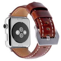Argentina Nuevo reloj de pulsera de cuero vintage accesorios para iwatch 4 3 2 pulsera Reloj de pulsera de Apple 42mm 38mm correa de reloj 40/44 mm cheap vintage watch bands Suministro